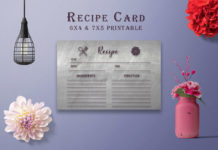 Free Dark Recipe Card Printable V39