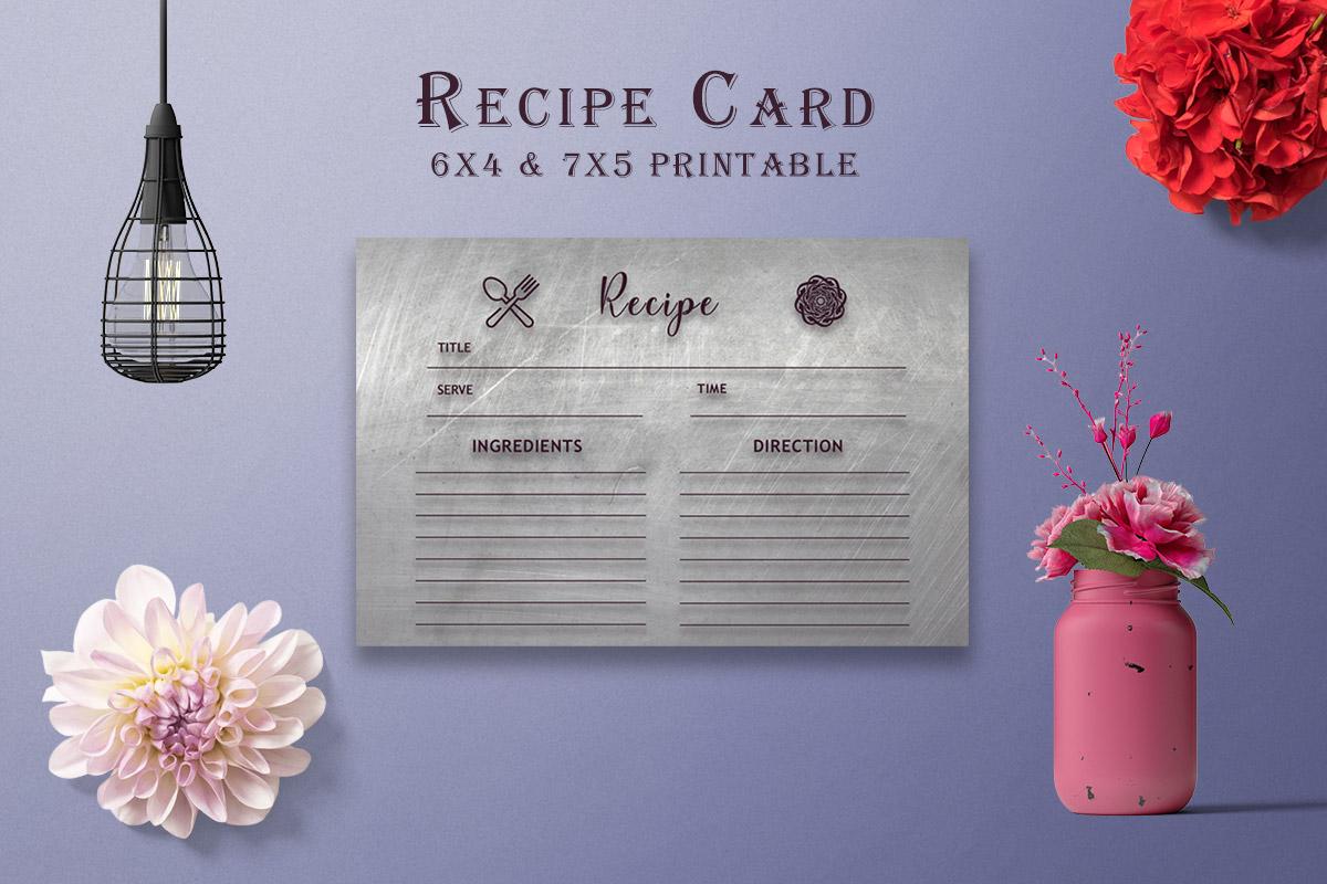 Free Dark Recipe Card Printable V39