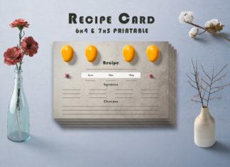 Free Brown Recipe Card Printable V40