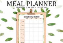 Free Floral Meal Planner Template V3