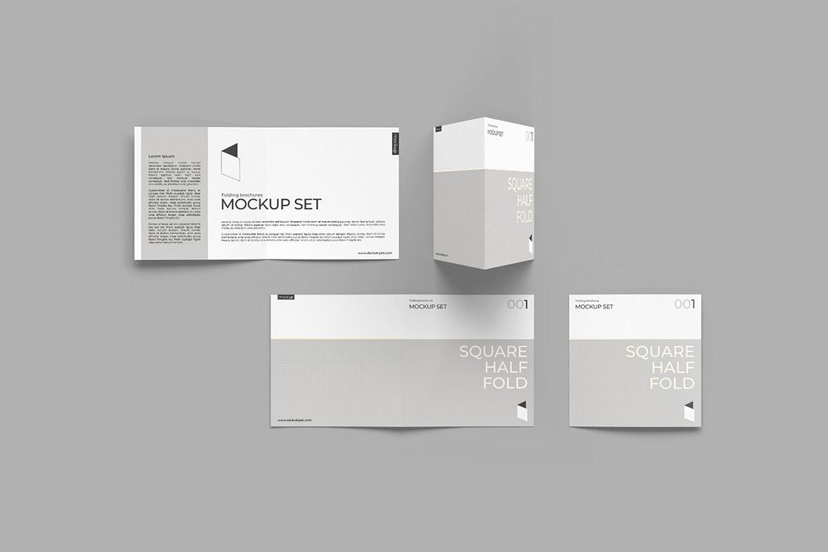 Free Folding Brochure Mockup