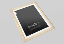 Free Framed Picture Mockup