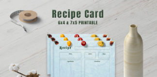 Free Fruits Recipe Card Template