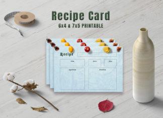Free Fruits Recipe Card Template