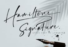 Free Hamiltone Signature Font