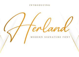 Free Herland Signature Font
