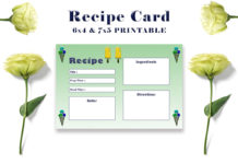 Free Ice Cream Recipe Card Template