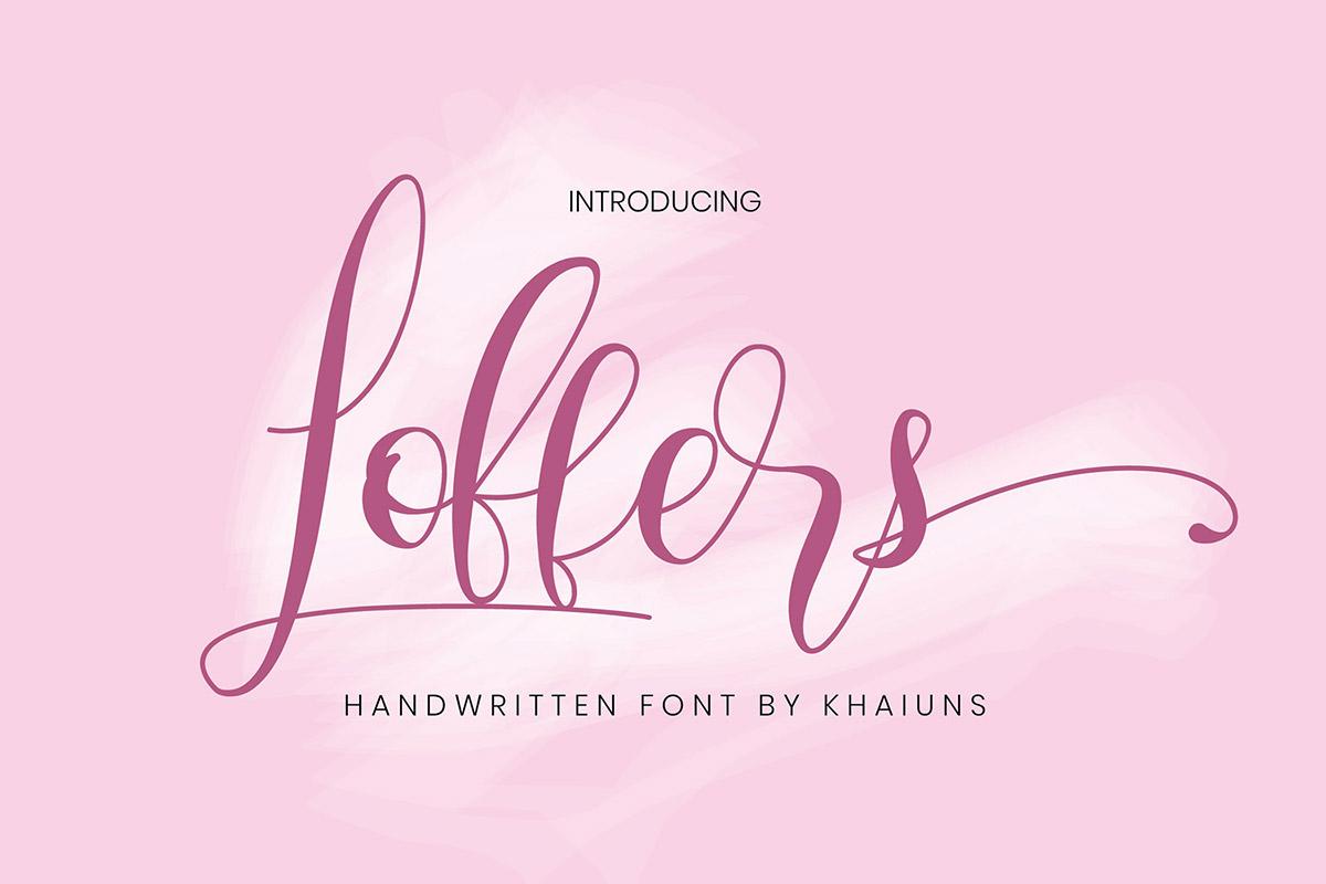 Free Loffers Handwritten Font