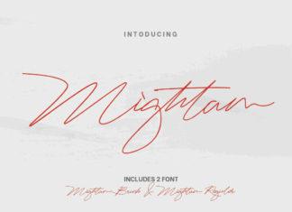Free Mightam Script Font