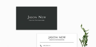Free Minimal Green Business Card Template