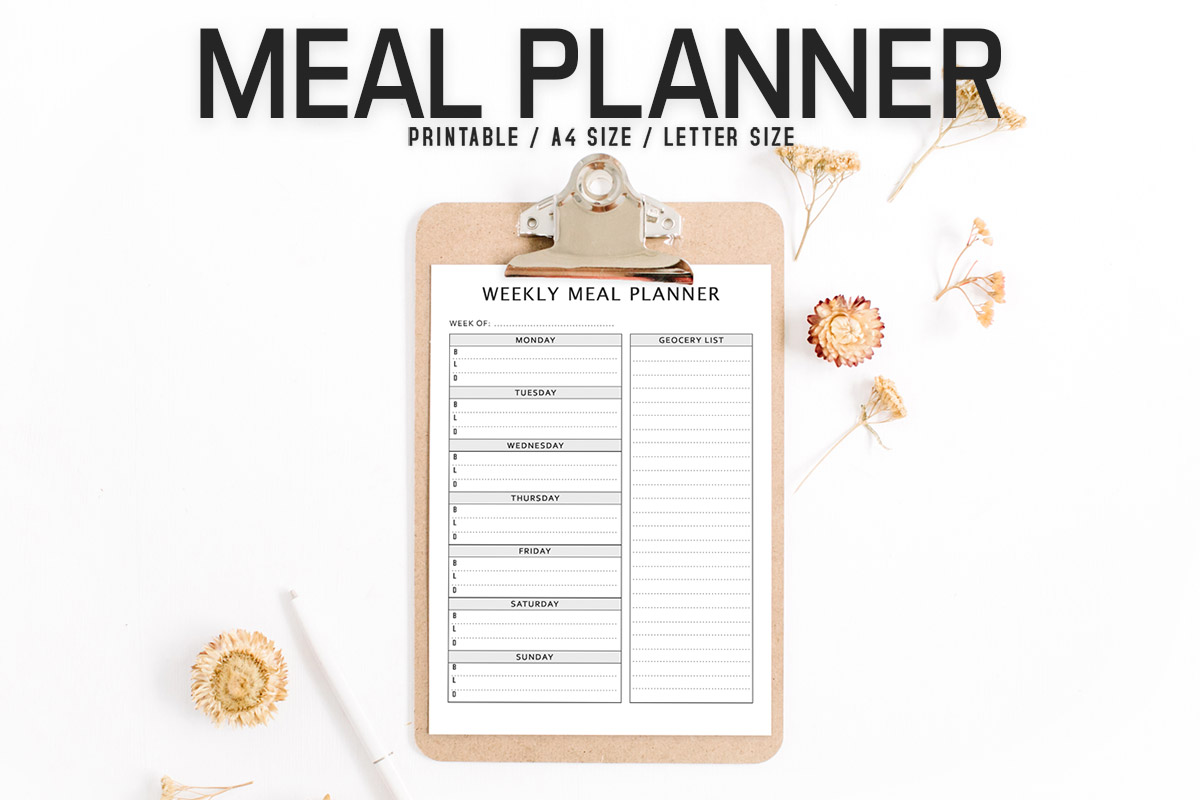 Free Minimal Meal Planner Template V2