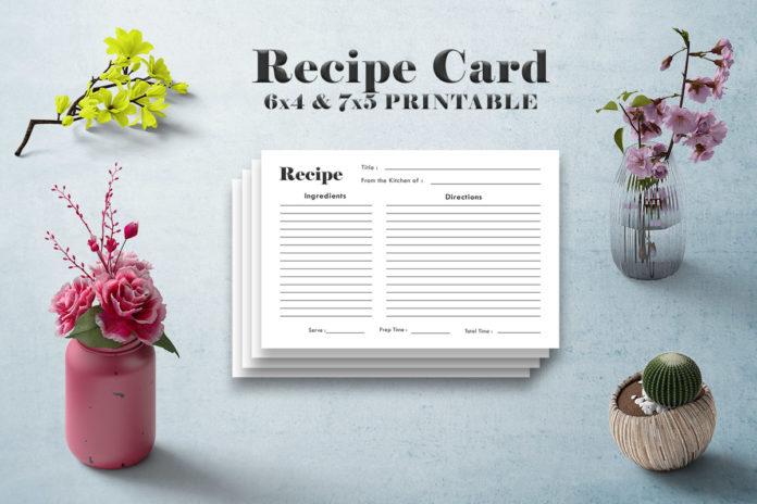 Free Minimal Recipe Card Template V1