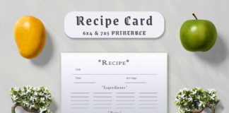 Free Minimal Recipe Card Template V3