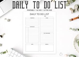 Free Minimal To Do List Printable V2