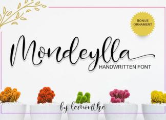 Free Mondeylla Handwritten Font