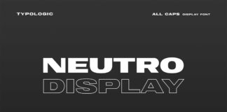 Free Neutro Display Font