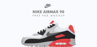 Free Nike Airmax 90 PSD Mockup