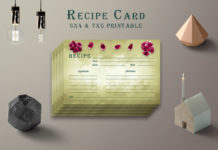 Free Olive Green Recipe Card Printable V38