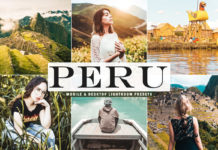 Free Peru Lightroom Presets