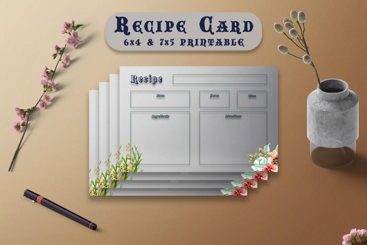 Free Modern Recipe Card Printable V37
