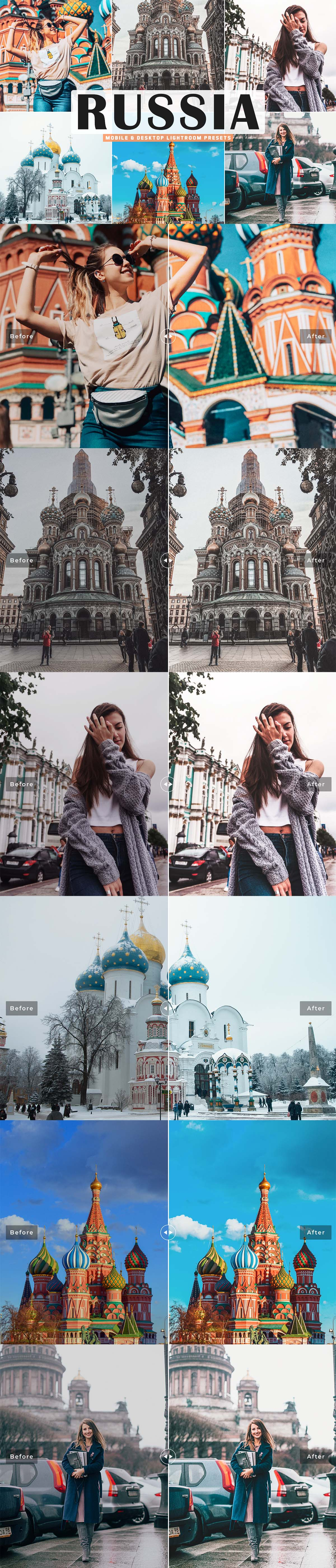 Free Russia Lightroom Presets