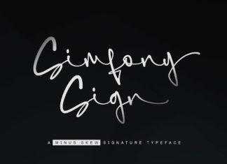 Free SimfonySign Signature Font