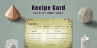 Free Vintage Recipe Card Template