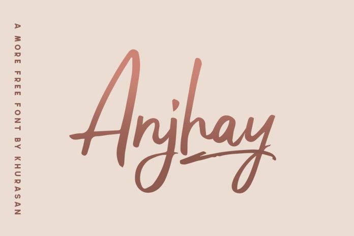 Free Anjhay Script Font