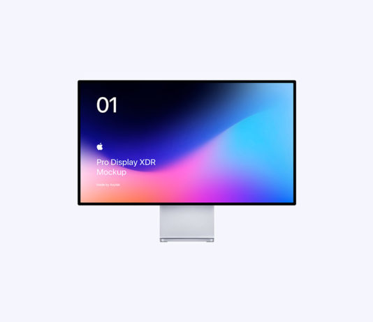 Free Apple Pro Display XDR Mockup