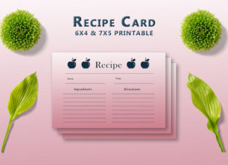 Free Apple Recipe Card Template