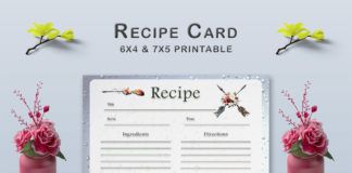 Free Arrow Recipe Card Template