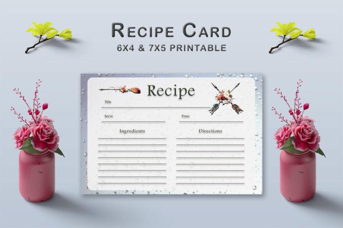 Free Arrow Recipe Card Template