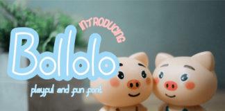 Free Bollolo Handwritten Font