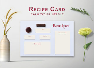 Free Choco Pie Recipe Card Template