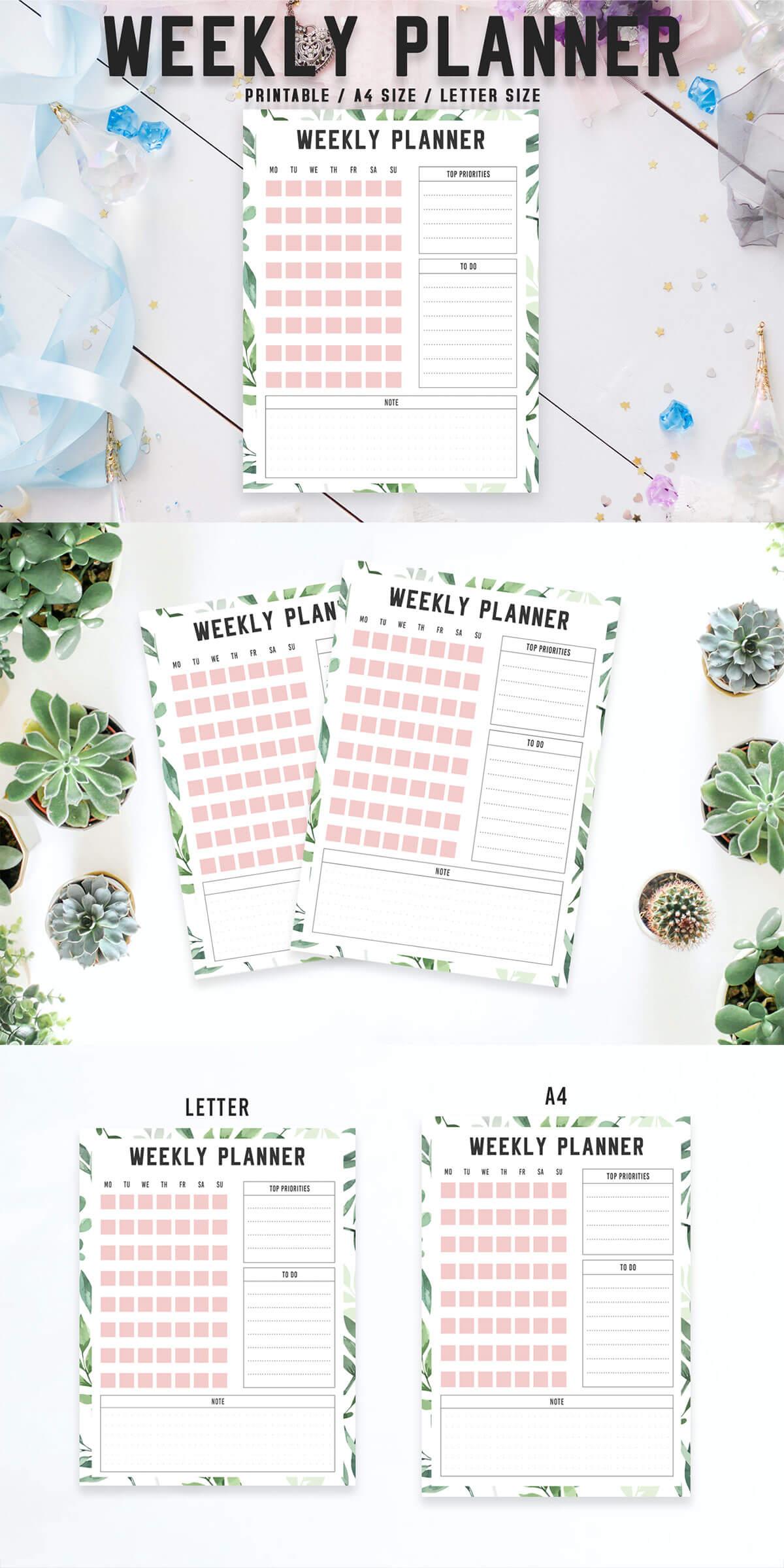 Free Colorful Weekly Planner Printable