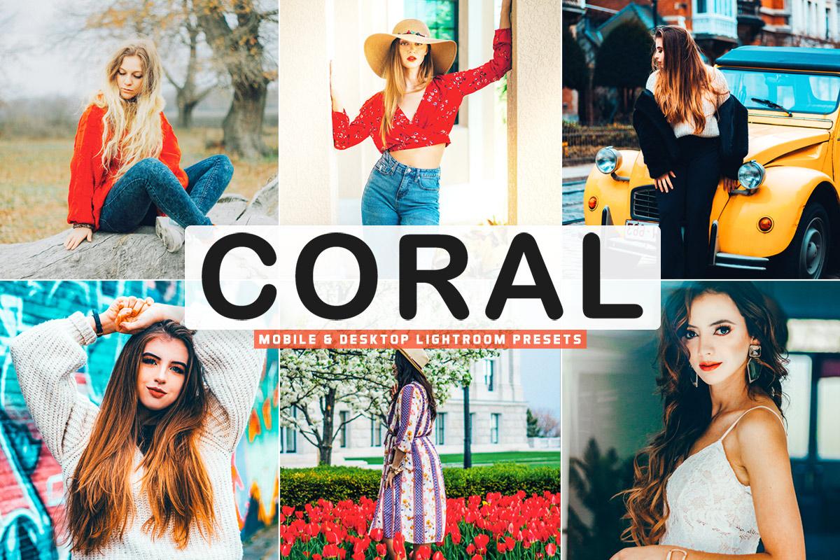 Free Coral Lightroom Presets