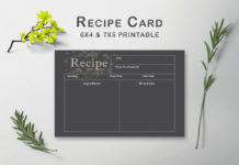 Free Dark Recipe Card Template