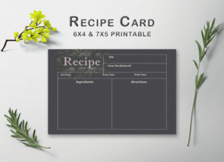 Free Dark Recipe Card Template