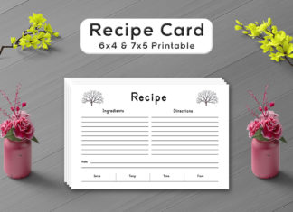 Free Deciduous Tree Recipe Card Template