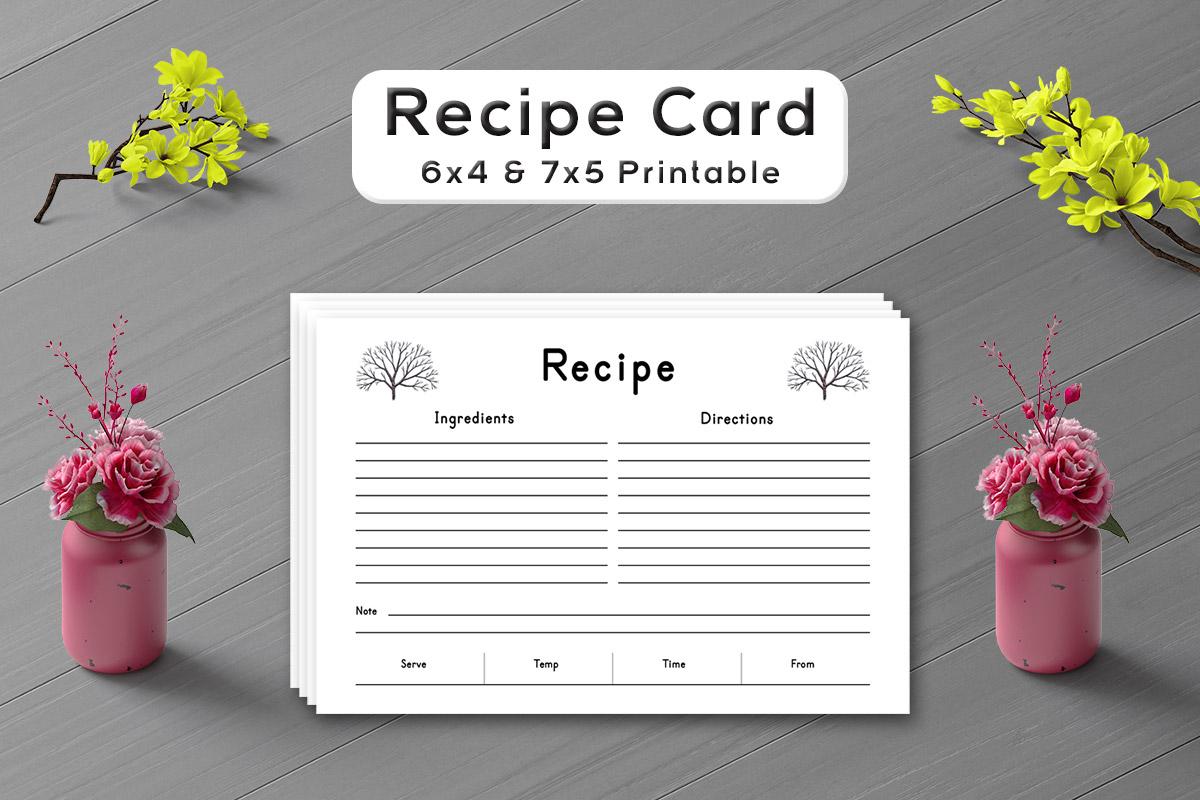 Free Deciduous Tree Recipe Card Template