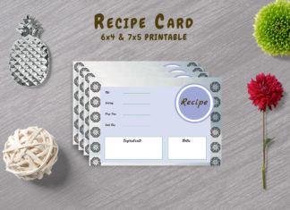 Free Decorative Recipe Template