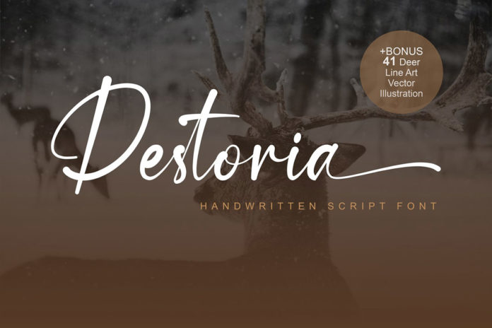 Free Destoria Handwritten Script Font