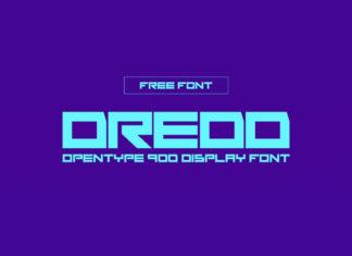 Free Dredd Display Font
