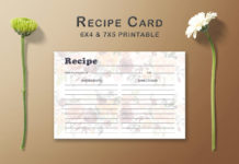 Free Floral Arrangement Recipe Card Template