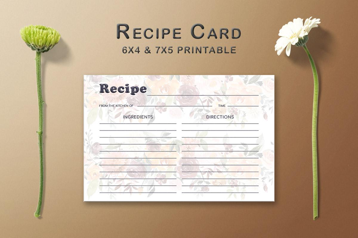 Free Floral Arrangement Recipe Card Template