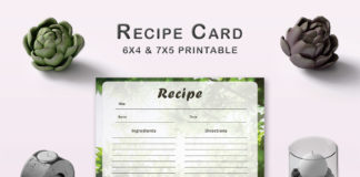 Free Forest Recipe Card Template