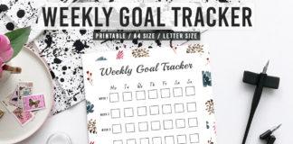 Free Goal Tracker Printable V2