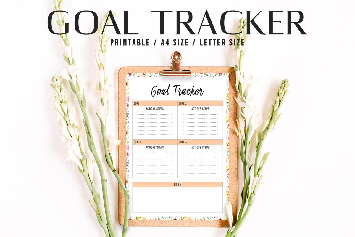 Free Goal Tracker Printable