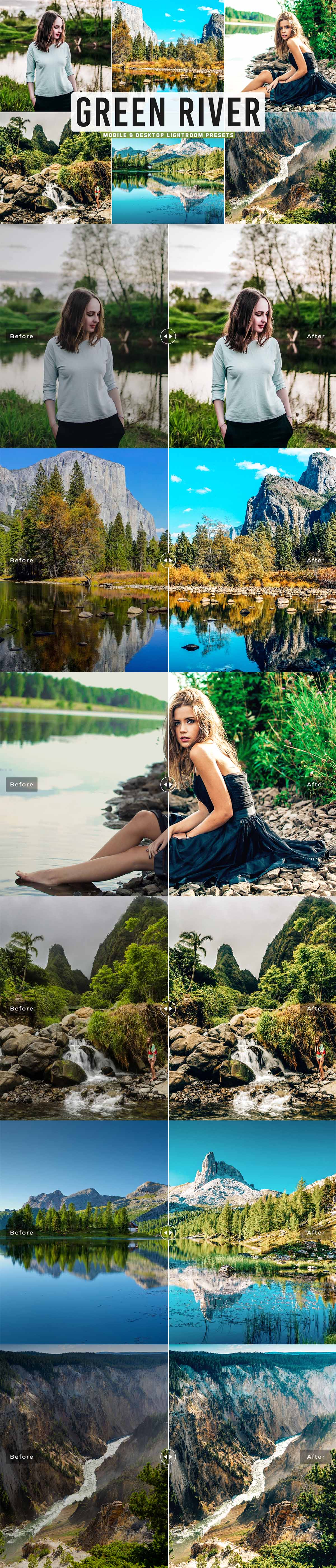 Free Green River Lightroom Presets