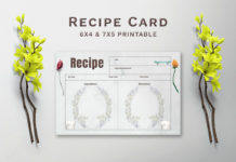 Free Greenery Recipe Card Template